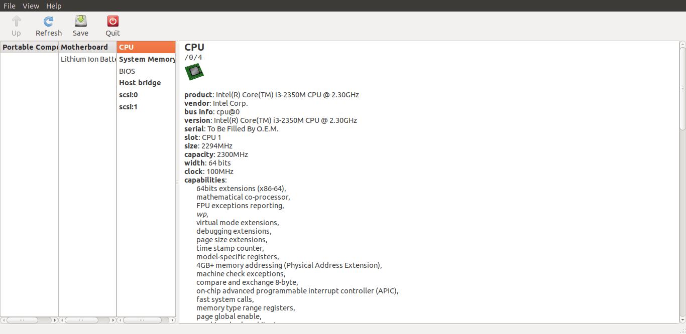 Find Hardware Specifications On Linux using lshw-gtk GUI