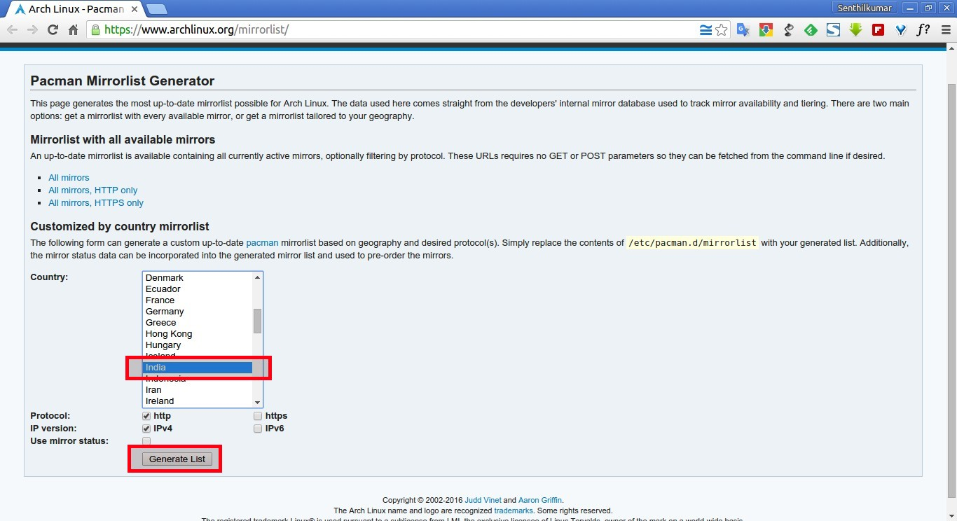 Arch Linux - Pacman Mirrorlist Generator - Google Chrome_003