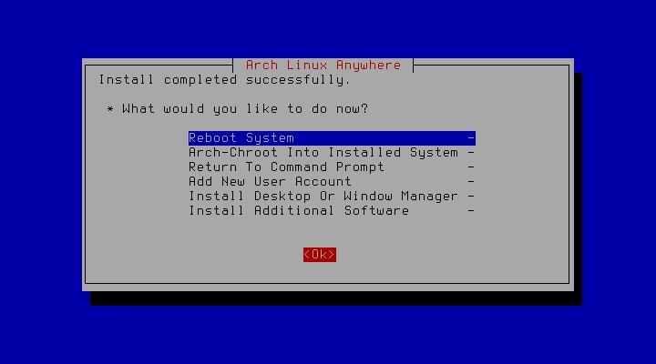 Arch anywhere [Running] - Oracle VM VirtualBox_050