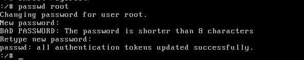 reset root password in centos