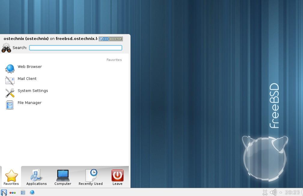FreeBSD KDE desktop