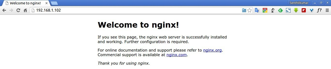 Welcome to nginx! - Google Chrome_001