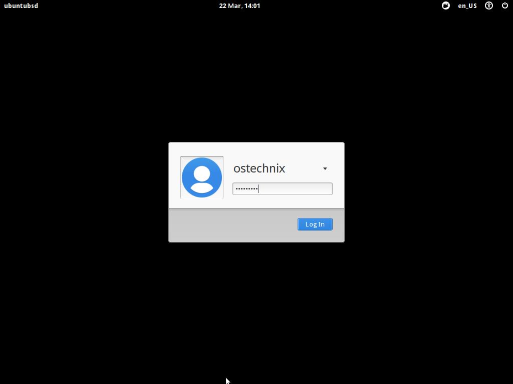 UbuntuBSD login