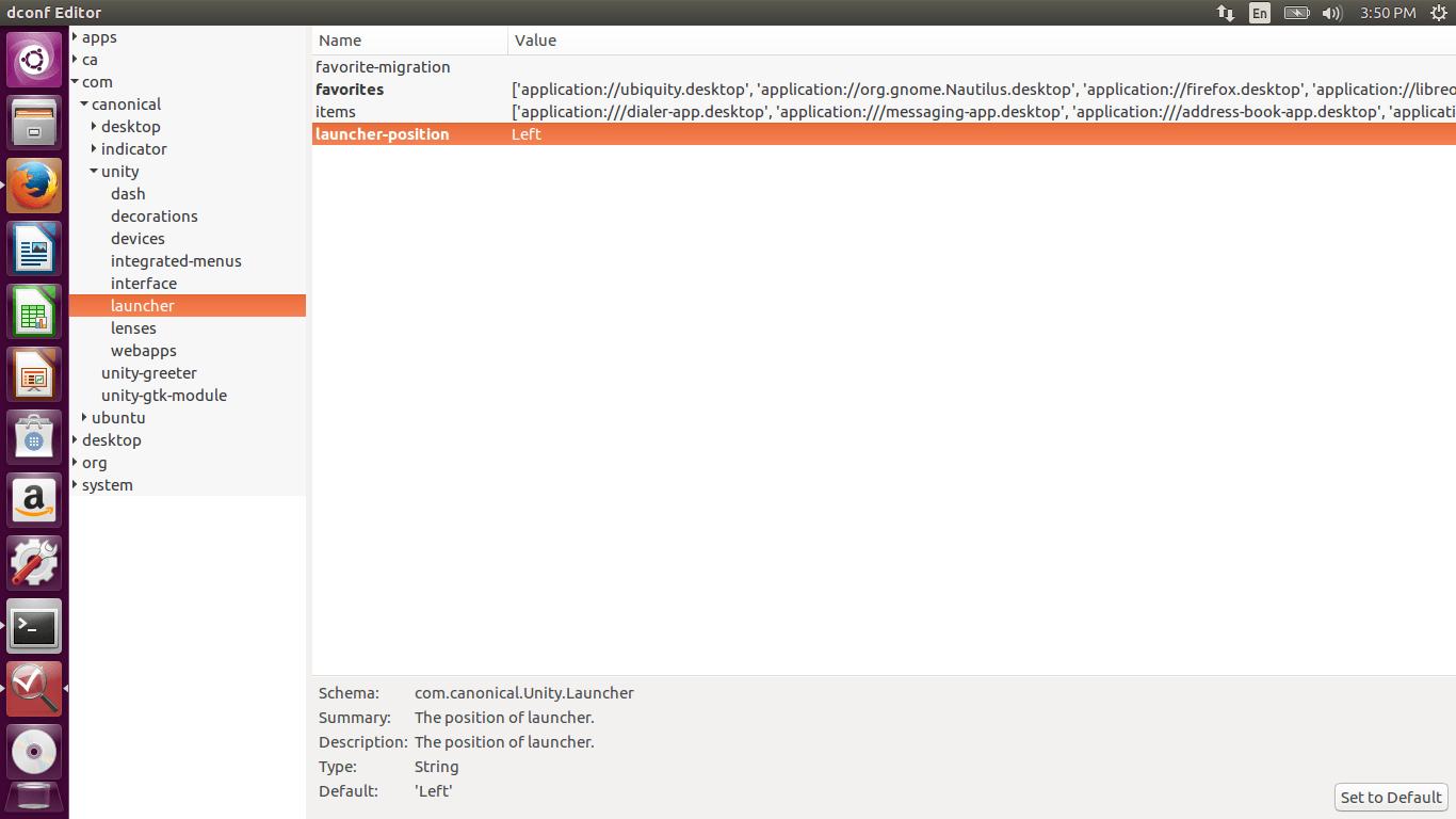 dconf editor unity launcher ubuntu