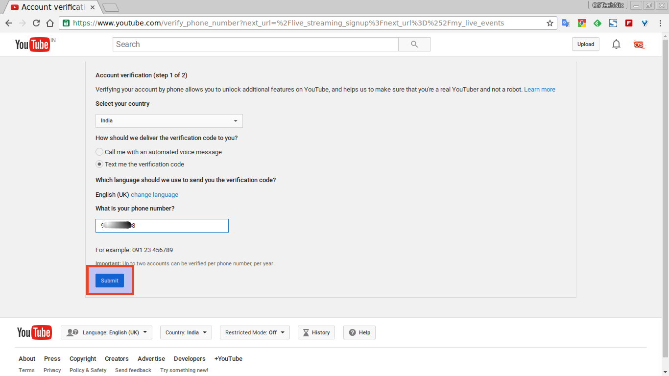 Account verification - YouTube - Chromium_006
