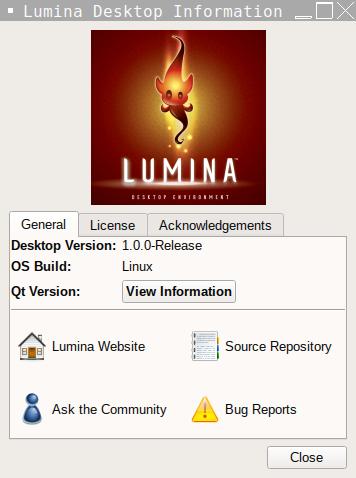 Lumina Desktop Information