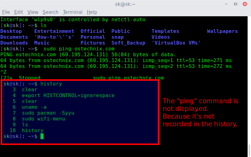 clear Command line history 2