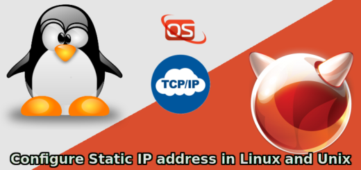 How To Configure Static IP Address In Linux And Unix - OSTechNix