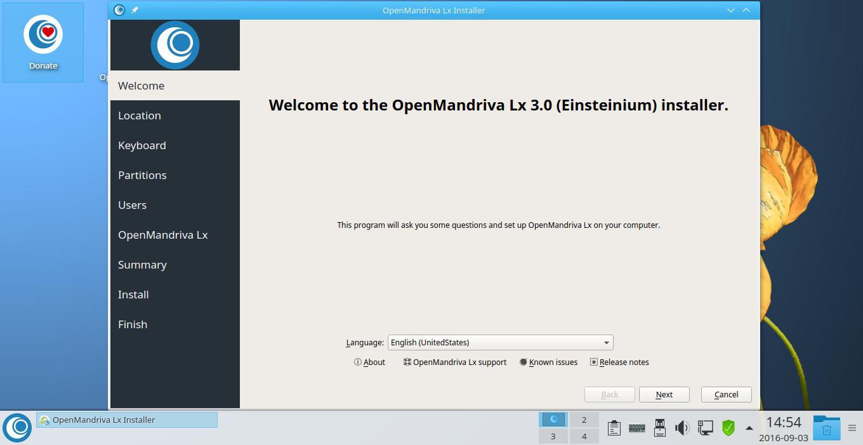 VirtualBox_OpenMandriva Lx 3 desktop_03_09_2016_14_54_39