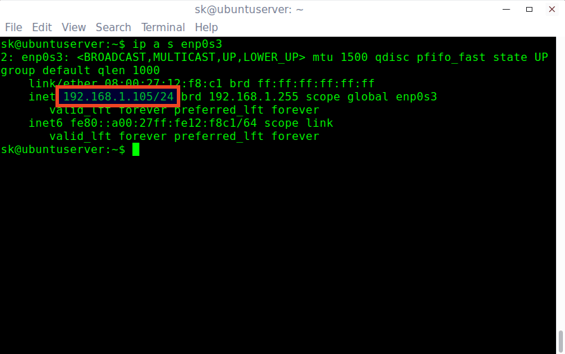 ip addr command output 2