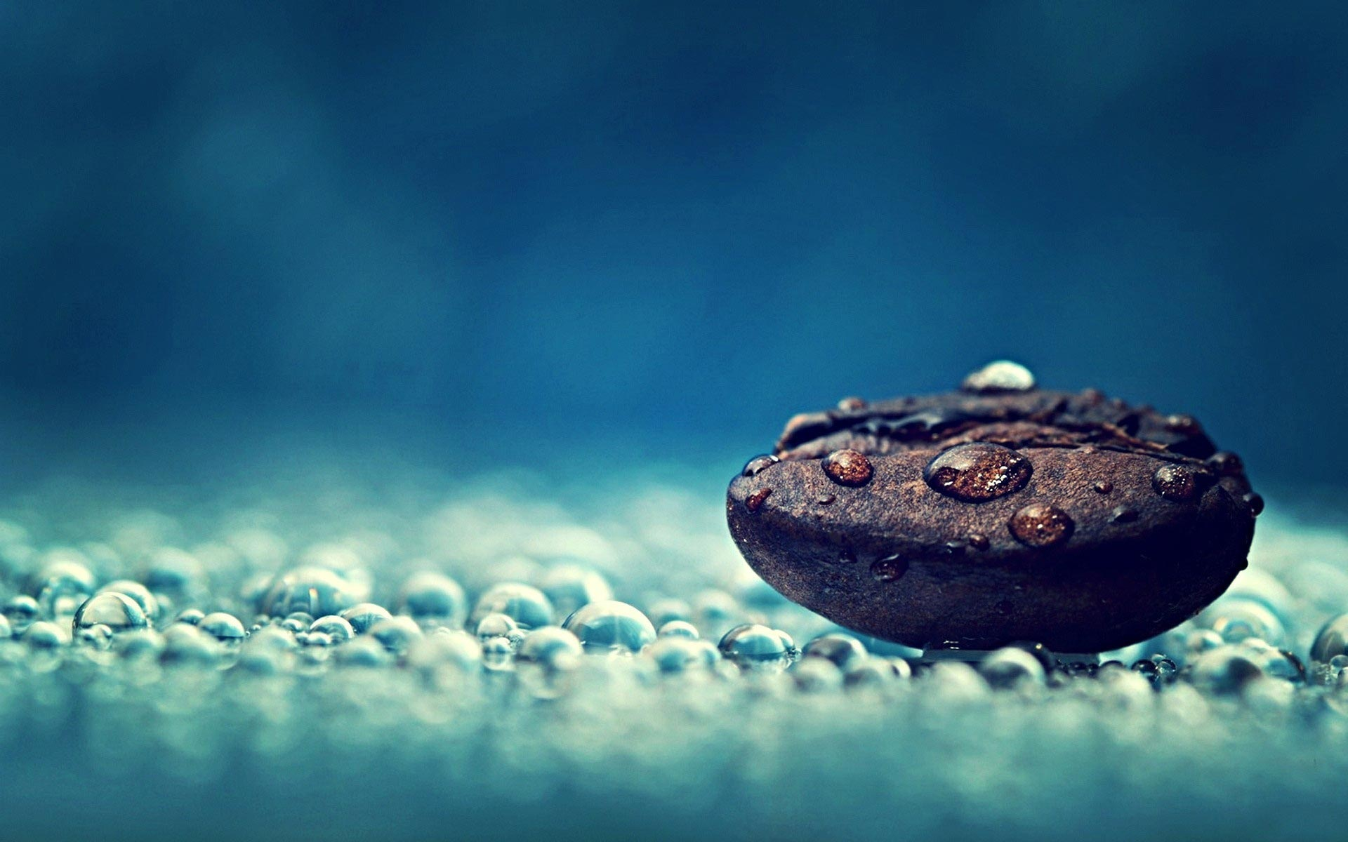 Droplet On Pebble