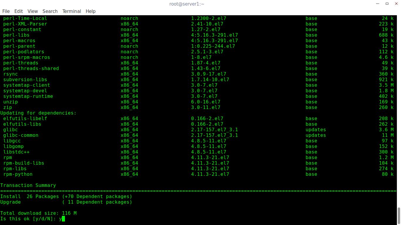 Install Development Tools In RHEL, CentOS