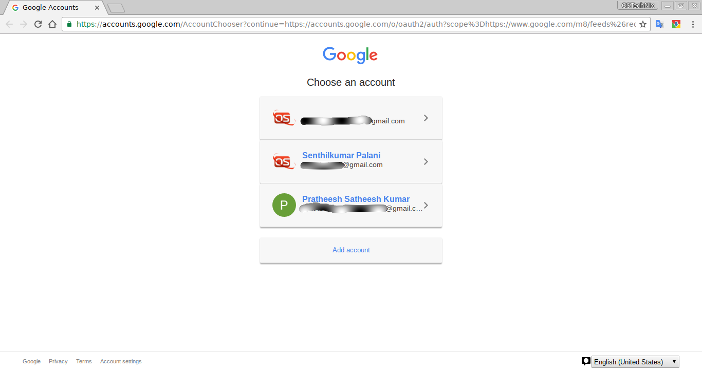 authenticate with your gmail account