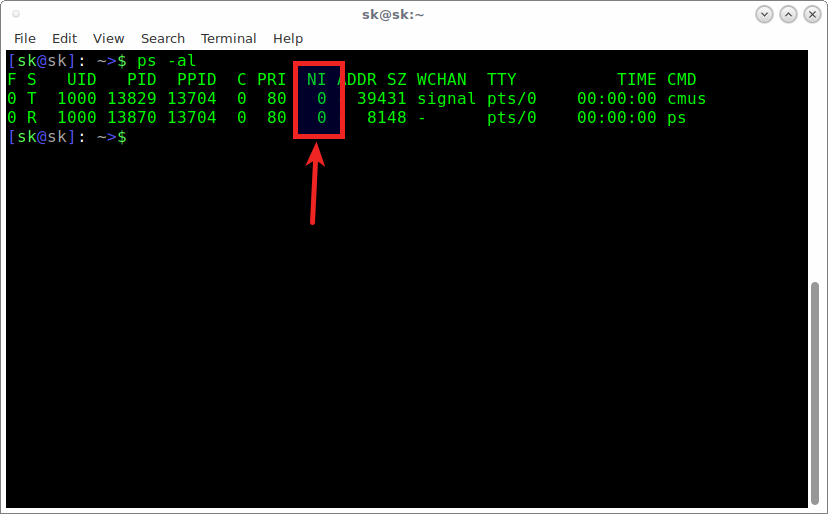 View running processes using ps command