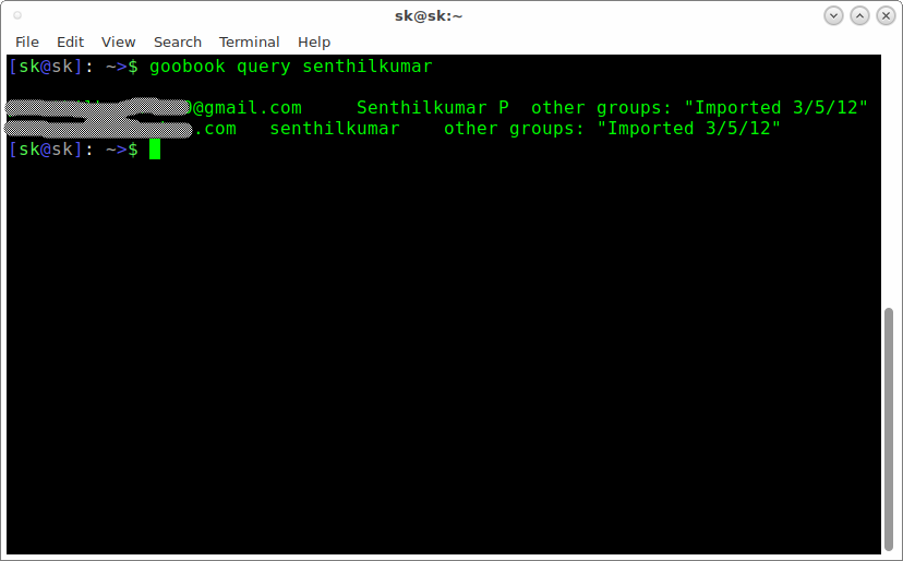 Access Your Google Contacts From Commandline In Linux Using GooBook