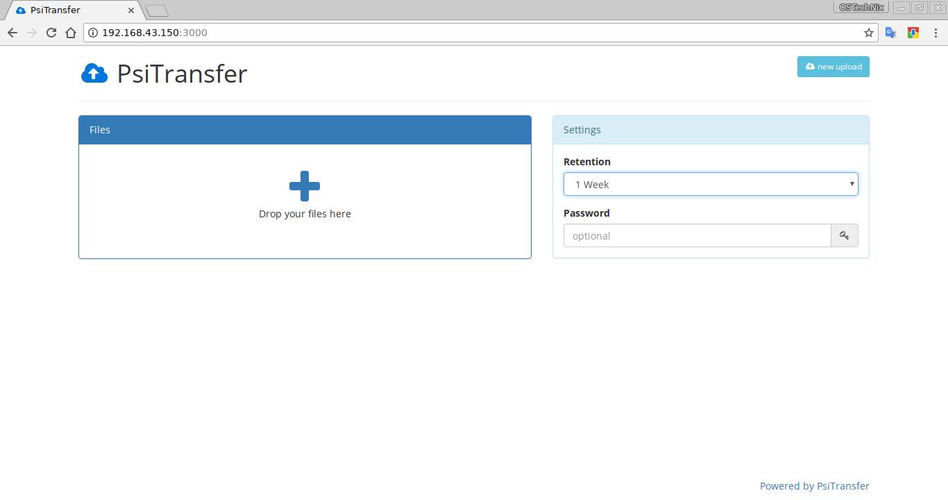 PSiTransfer file sharing platform