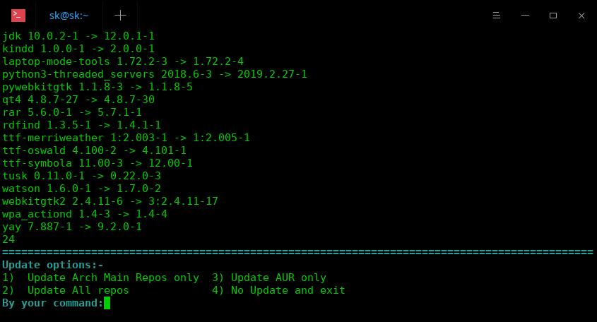 Cylon system update