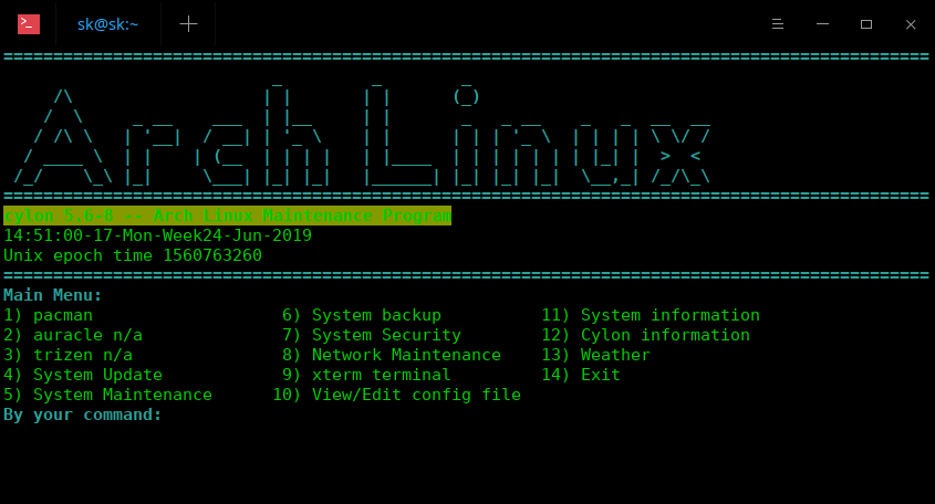 Cylon Arch Linux maintenance program