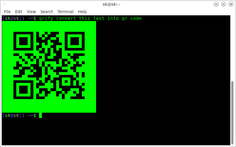 Qrify Converts Strings into QR code