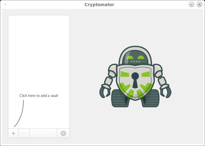 Cryptomator interface