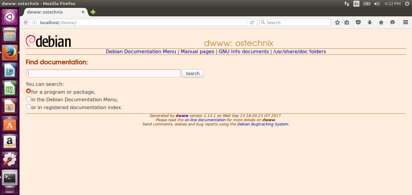 View Complete Debian Documentation Offline Via Web Browser With Dwww