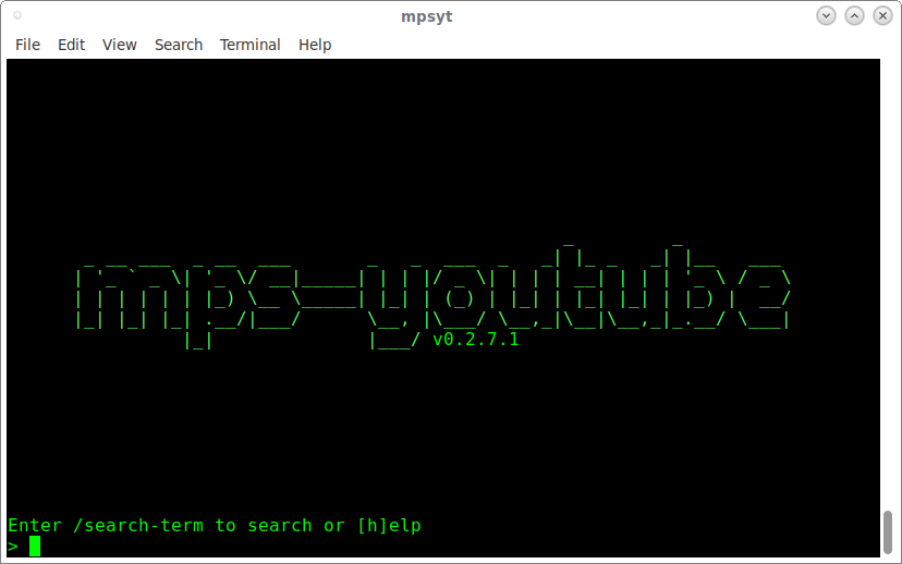 mps-youtube console