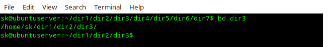 """Navigate Directories Faster In Linux Using """"bd"""" Utility"""