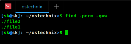 Find files based on their permissions using symbolic notation