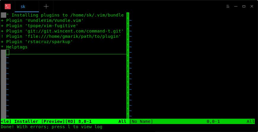 Installing Vim plugins