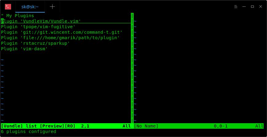 List installed vi plugins