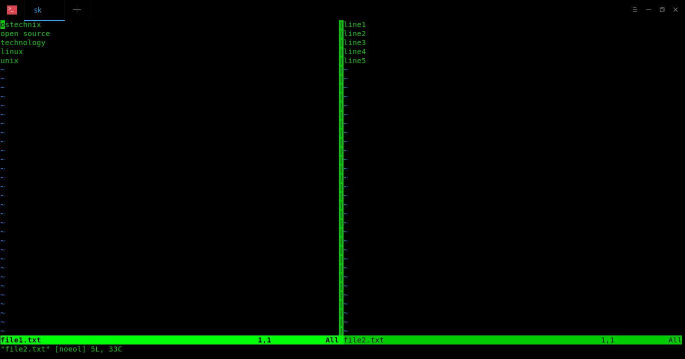 Open multiple files in vertical windows in Vim