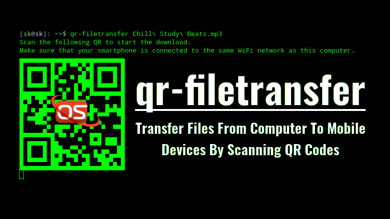 Transfer Files From Computer To Mobile Devices By Scanning QR