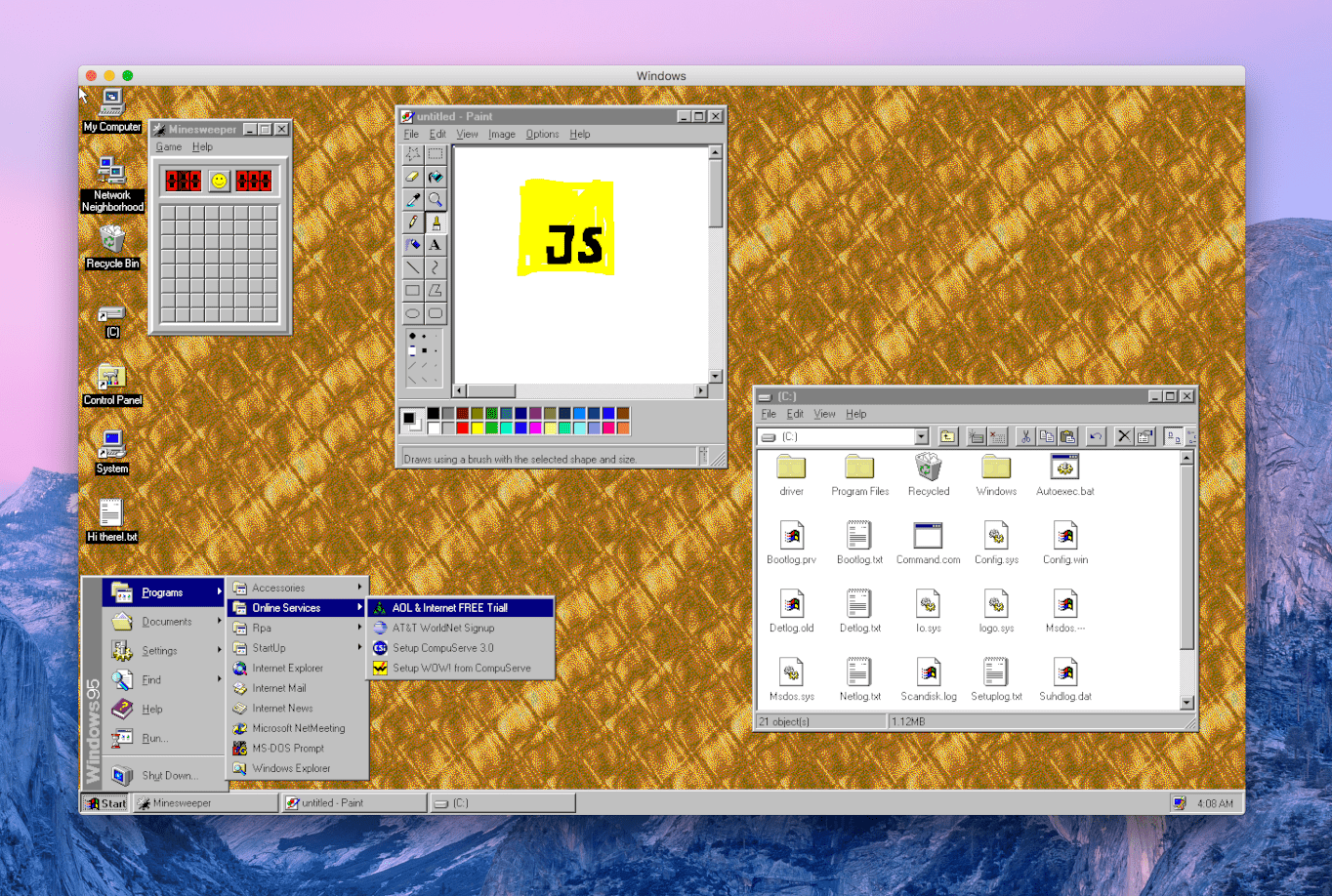Behold! You Can Now Run Windows 95 In Linux - OSTechNix