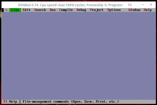 Turbo C++ console in Dosbox