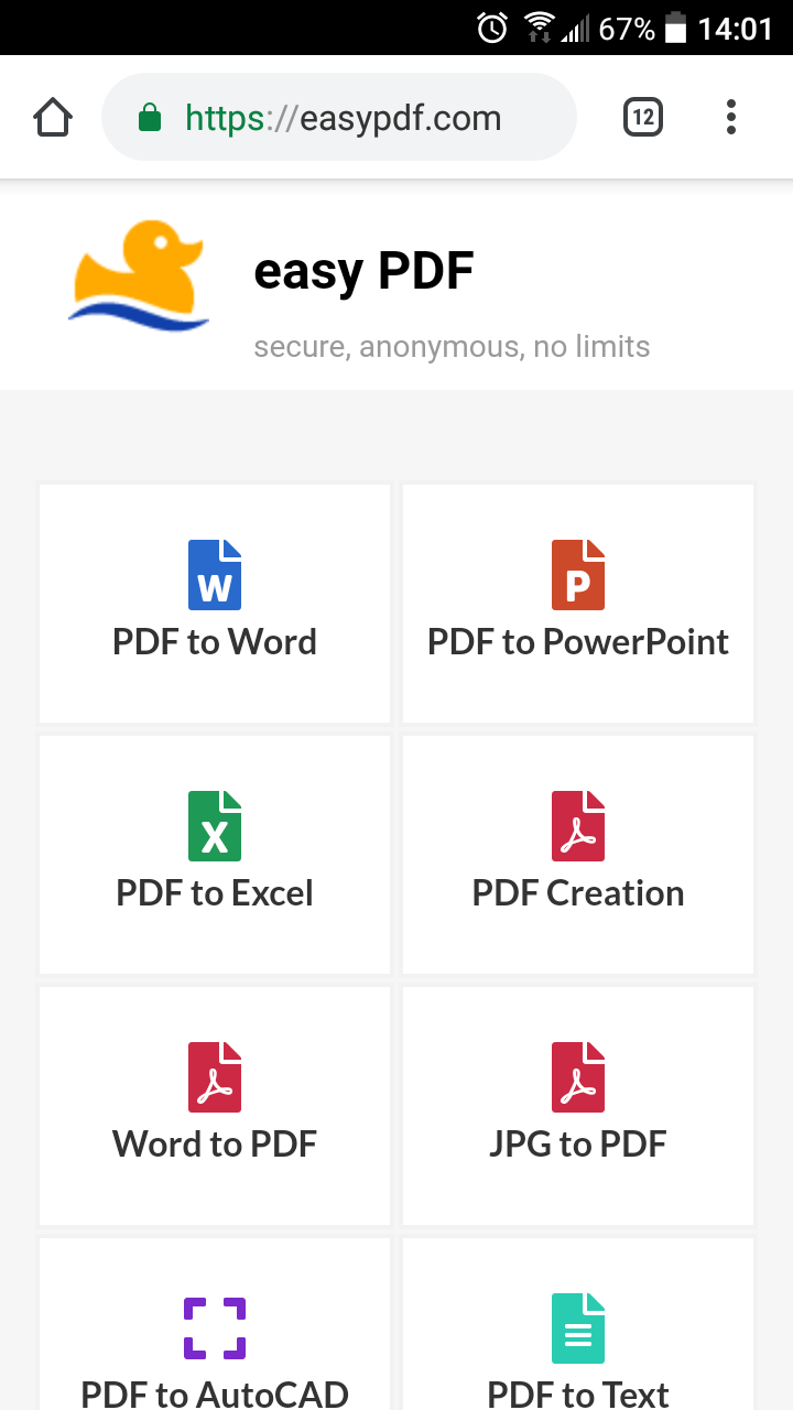 EasyPDF - A Free And Secure Online PDF Conversion Suite