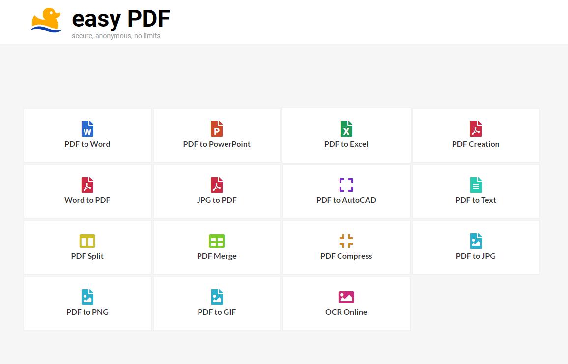 easypdf interface