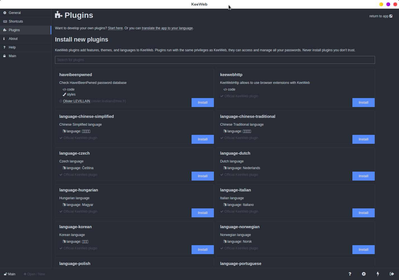 KeeWeb plugins