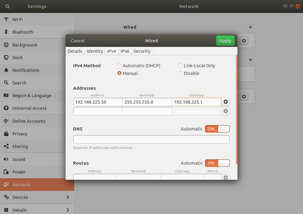 Configure Static IP Address In Ubuntu 18.04 LTS Desktop