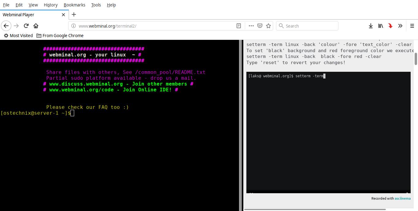 Webminal terminal 2