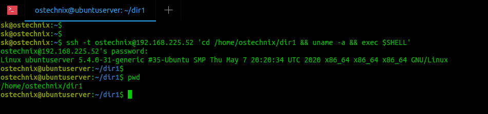 Execute commands over SSH on remote Linux systems