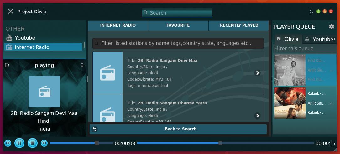 Olivia Internet radio