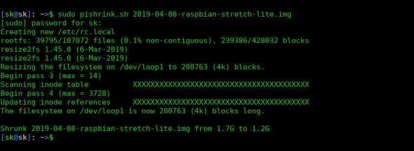 Make Raspberry Pi Images Smaller Using PiShrink