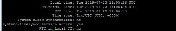 timedatectl command output ubuntu