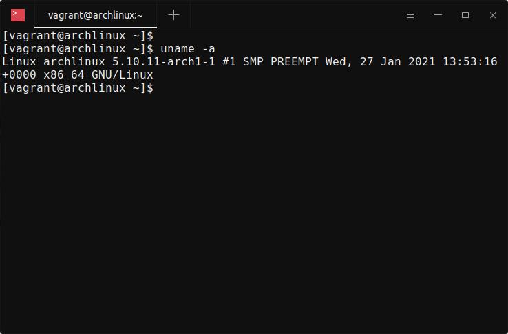 Find Linux Kernel details in Arch Linux