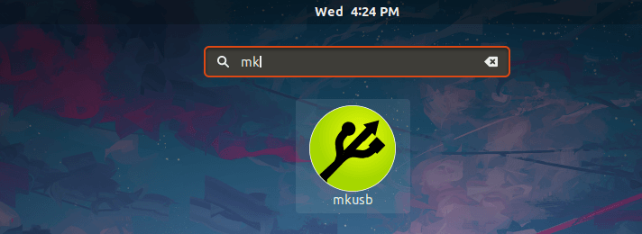 Launch mkusb from dash on Ubuntu