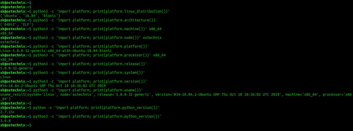 Find Linux System Details Using Python Platform module