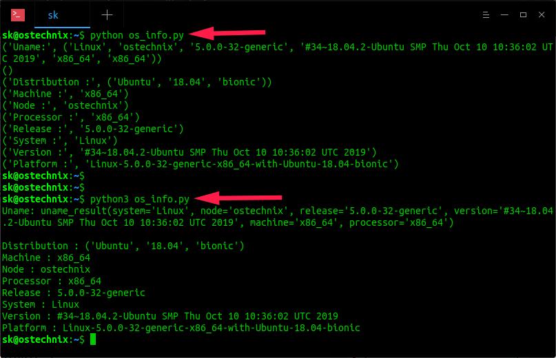 Find Linux System Details Using Python script