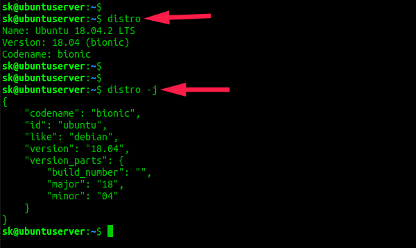 Find Linux System Details Using distro package