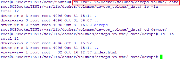 docker volumes mountpoint