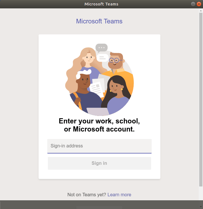 Login to Microsoft Teams